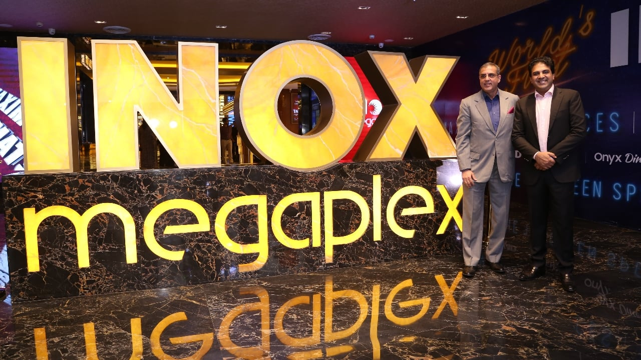 Left- Alok Tandon, Chief Exectuive Officer, Inox Leisure, Siddharth Jain, Director, Inox Group. In an interview to Moneycontrol, Tandon said that the next megaplex is scheduled to open in Lucknow in couple of months.