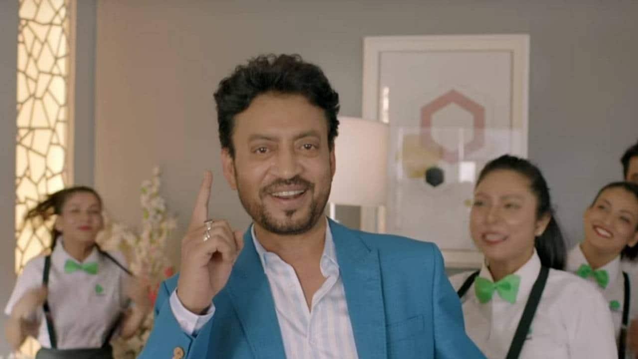Irrfan Khan, Treebo's brand ambassador, in a Treebo commercial.