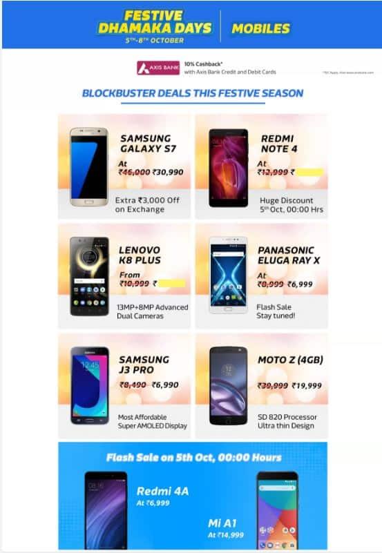 Flipkart offers-mobiles