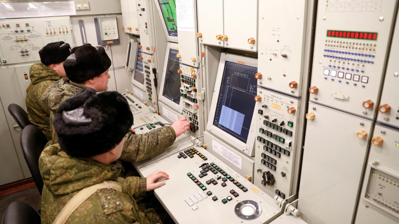 Russian servicemen work inside a command centre at a new S-400 system deployed at a military base outside the town of Gvardeysk near Kaliningrad, Russia. (Image: Reuters)