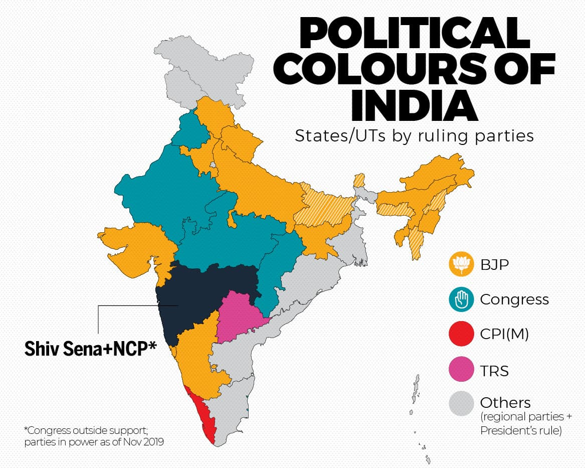 BJP MAP OF INDIA _2019_B