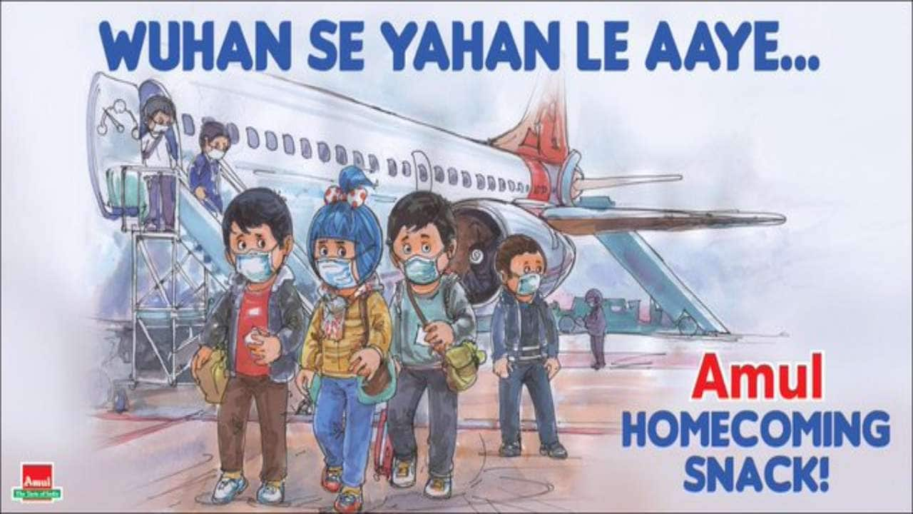 Amul ad on Indians rescued from coronavirus-hit China divides social media