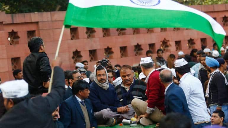 Arvind Kejriwal dharna