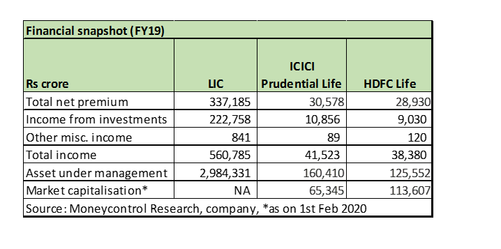 LIC numbers