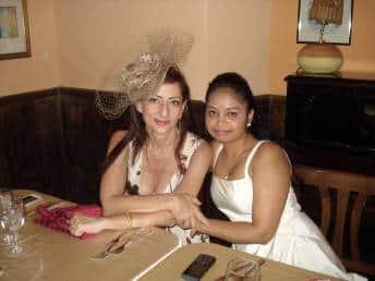 Francesca Marino and Sandhya
