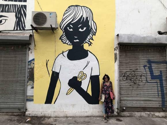 Missing Girls street art.