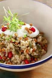 Barley 'n Jowar Salad at The Bombay Canteen.
