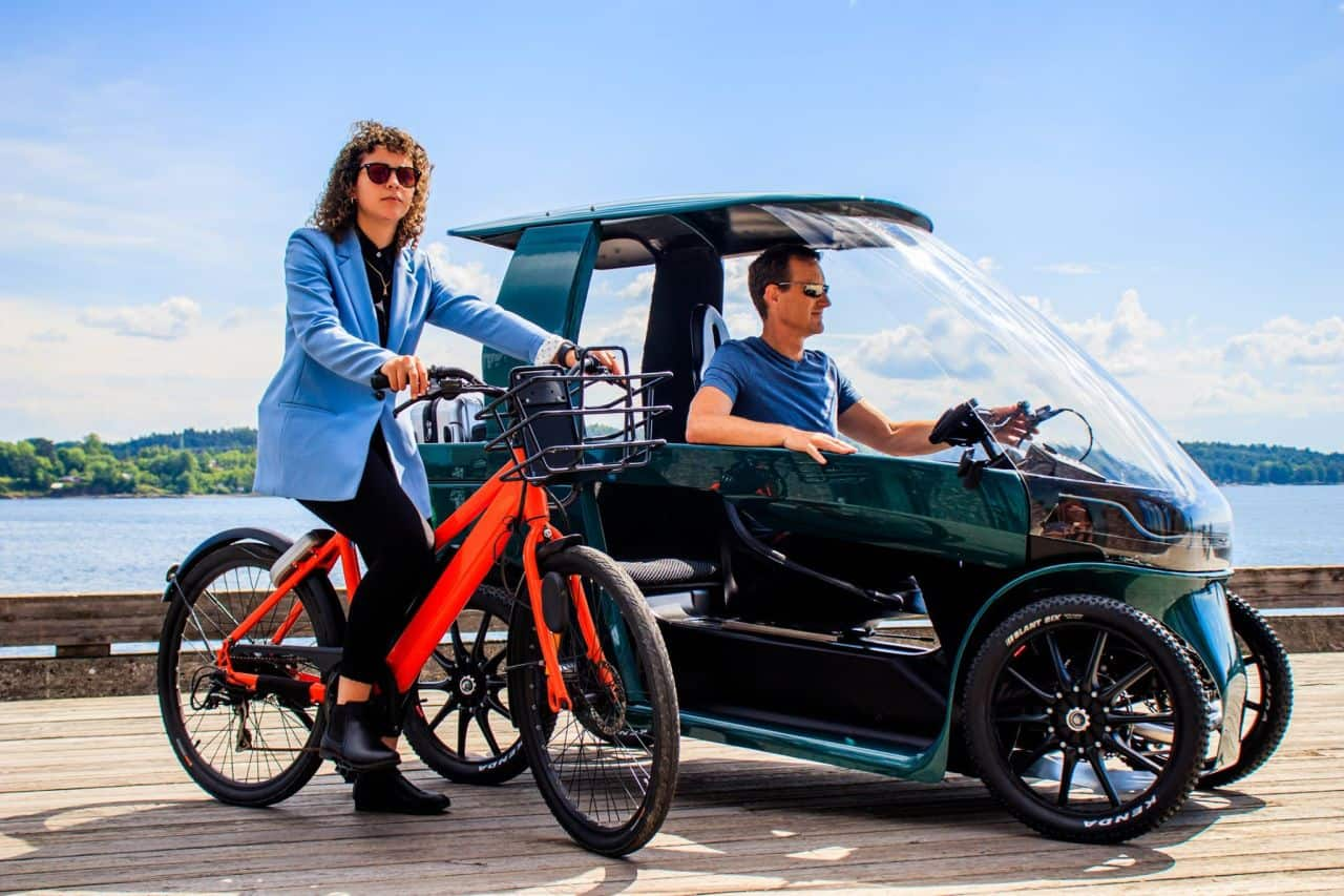 This Norway-based company just started accepting orders for their newest offering, the Car-e-bike, an electric bicycle that is also a car