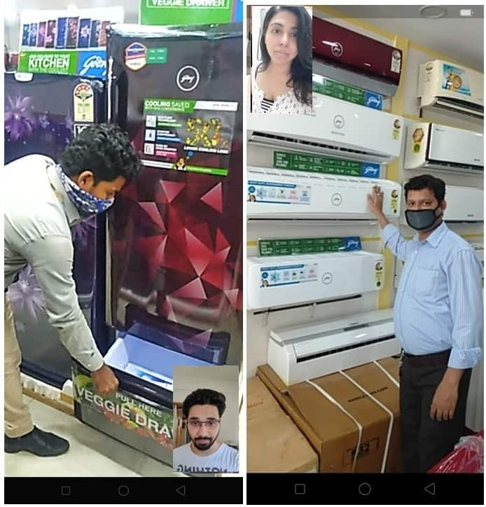 Live video demonstration of Godrej products to customers