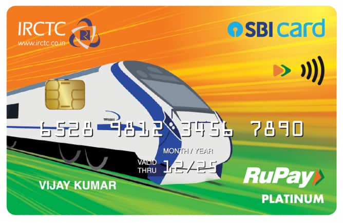 IRCTC SBI Card on RuPay - Front