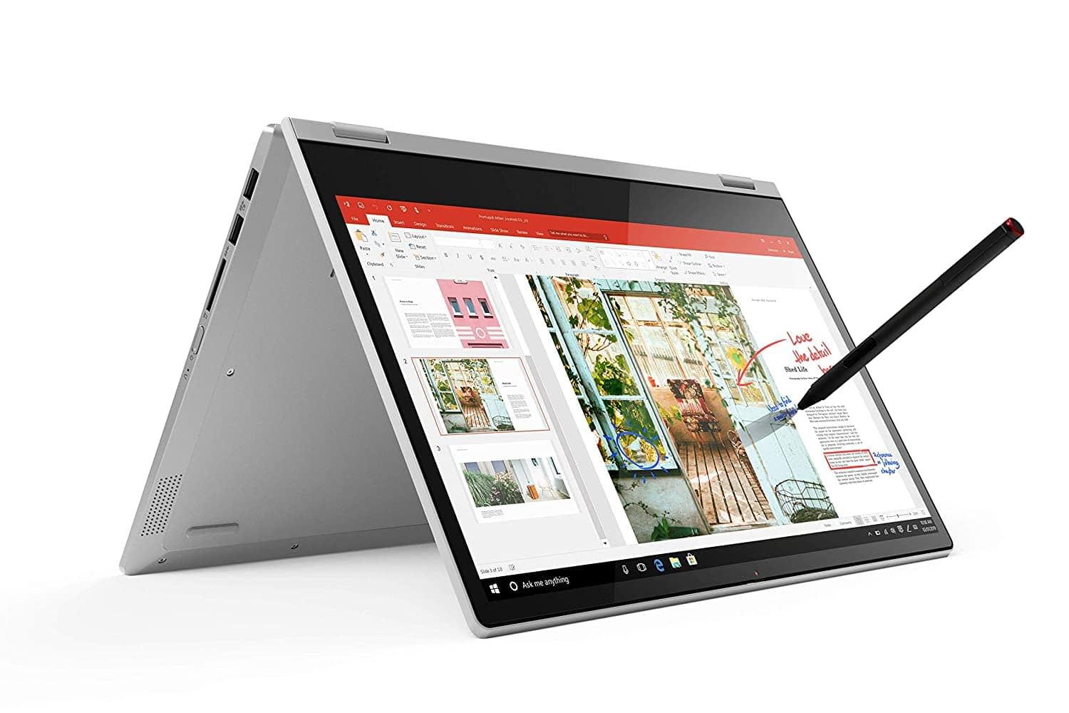 Lenovo Ideapad C340 – Rs 44,990 – This one gives you a 14-inch touchscreen display with a resolution of 1920 x 1080 pixels. It is powered by the 10th generation Intel Core i3 processor, 4GB RAM and has 256GB of fast SSD storage. While the Ideapad C340 looks plain and simple, it has a versatile design allowing you to rotate its screen as per requirement. It weighs just 1.65kg and yet is capable of delivering up to 8 hours of battery backup. Also, it supports rapid charging, so you can get up to 80% battery in just one hour of charging. Other handy features include a backlit keyboard, webcam with privacy shutter, stereo speakers, and Windows 10 Home operating system. You can add the optional digital pen for handwriting and drawing.