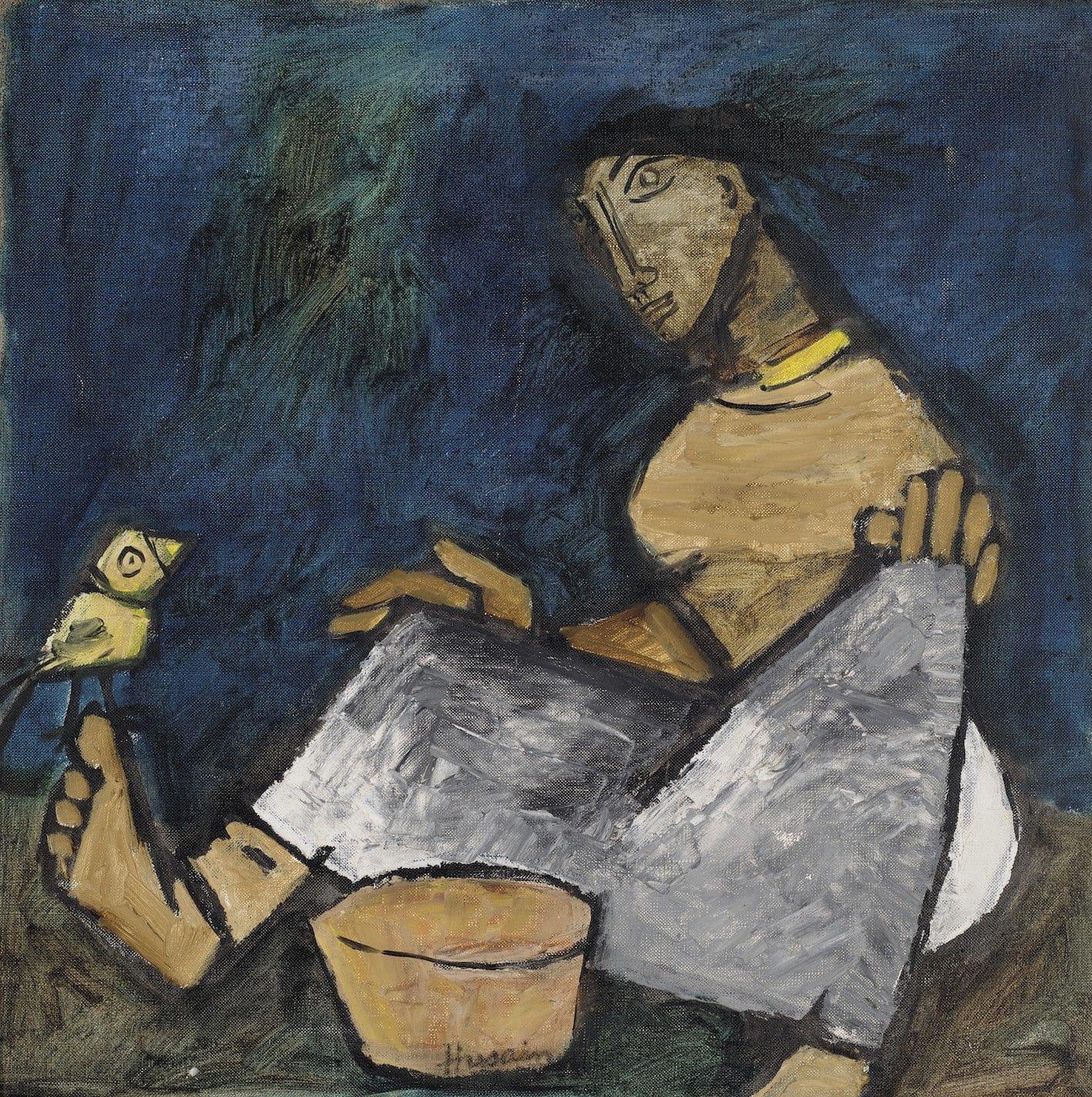 A painting by Maqbool Fida Husain.
