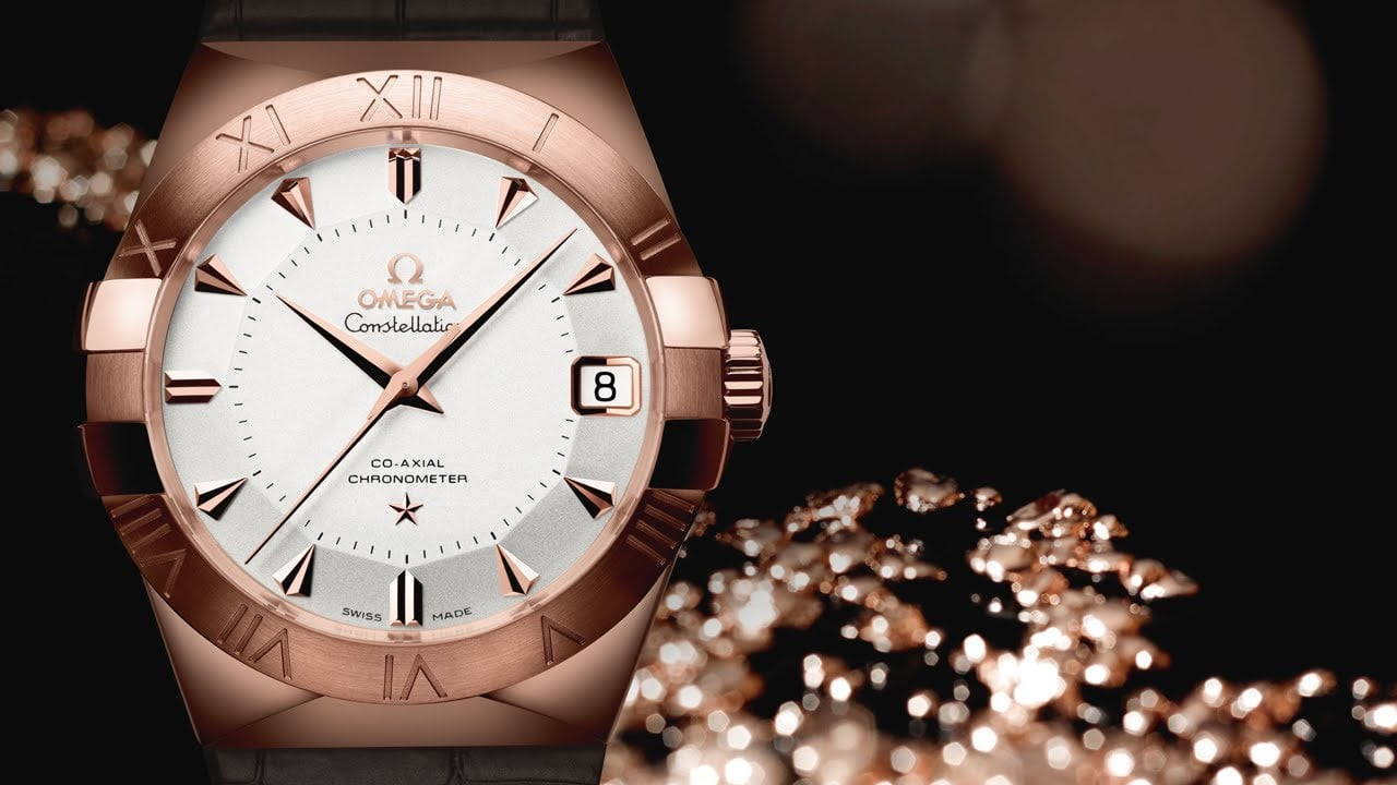 Omega Constellation made from proprietary Sedna gold.