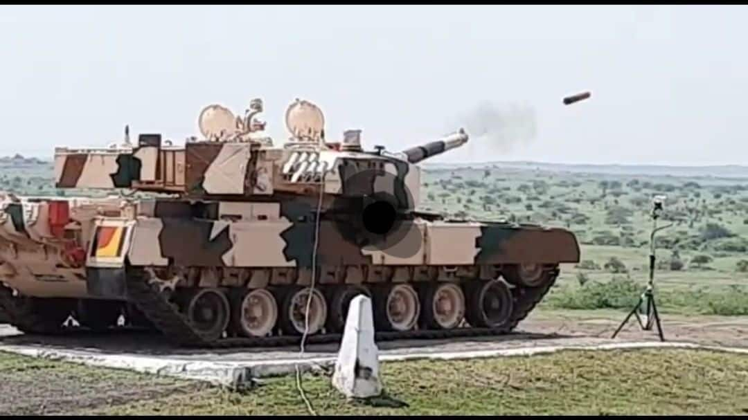 On October 1, Laser Guided Anti Tank Guided Missile was successfully tested, defeating a target located at longer range. The test was conducted from MBT Arjun at KK Ranges (ACC&S) Ahmednagar today in continuation of successful trial done on 22nd sep 2020 (Image: Twitter/@DRDO_India)