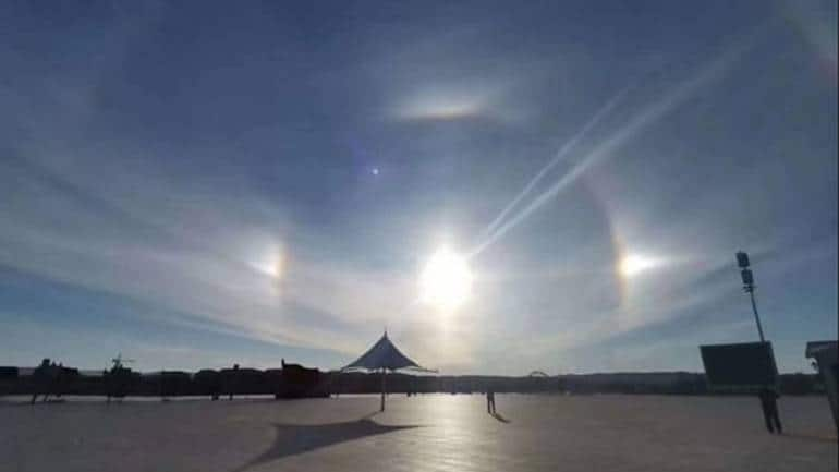 Rare celestial phenomenon: 'Three Suns' spotted in sky over Chinese city