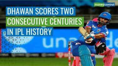 IPL 2020 | Shikhar Dhawan becomes the first batsman to hit 2 consecutive centuries in the IPL
