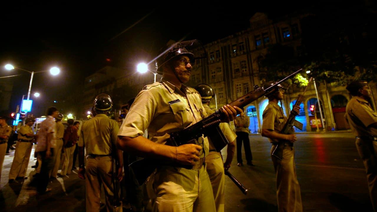 Mumbai Police personnel stand guard in South Mumbai after shootings inside the Chhatrapati Shivaji Maharaj Terminus (File image: Reuters)