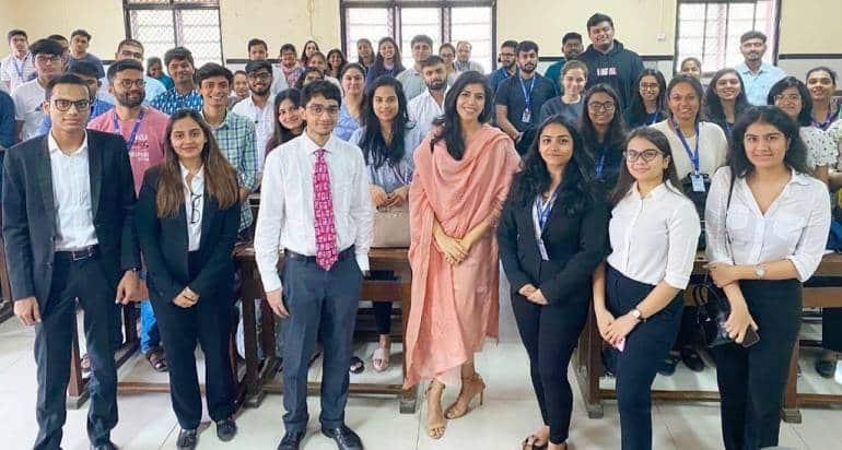 Priyanka Khimani at Govt Law College in Mumbai