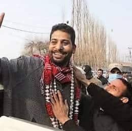 Aijaz Hussain Rather, 35, who won from Srinagar