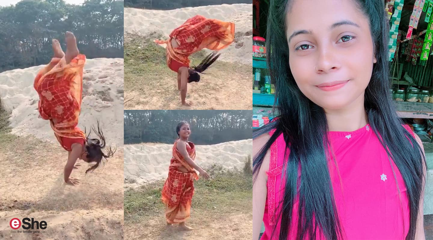 Mili Sarkar, the village teen in the viral 'sari-back-flip' video, was once a TikTok star