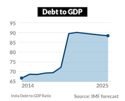 The govt's debt burden too is expected to climb