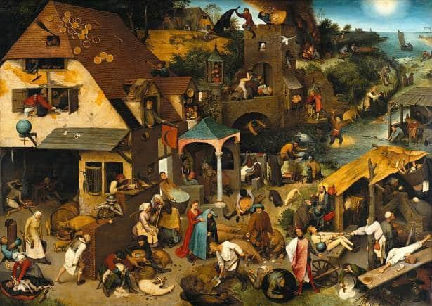 Netherlandish Proverbs, Pieter Brugel