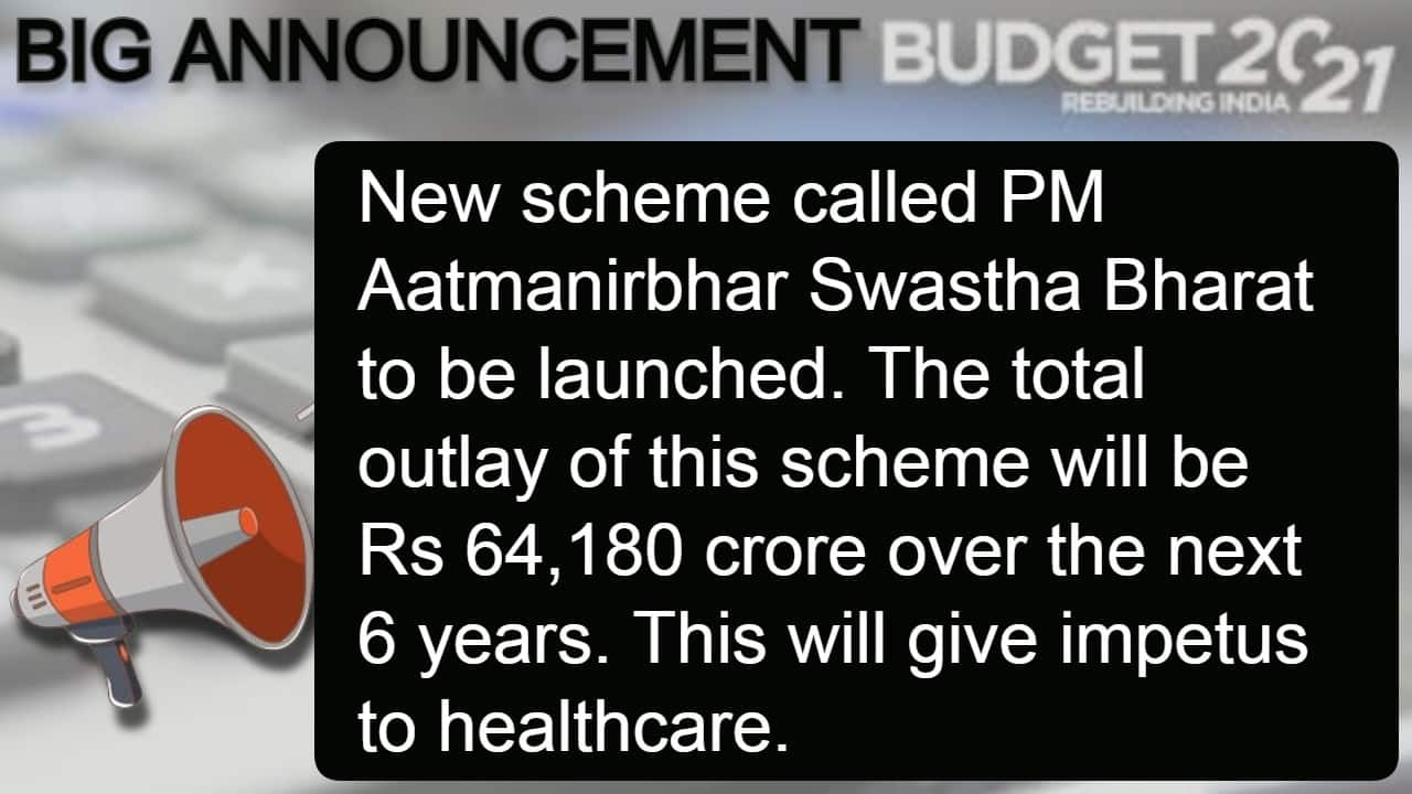Budget 2021 Major Announcements By Finance Minister Nirmala Sitharaman