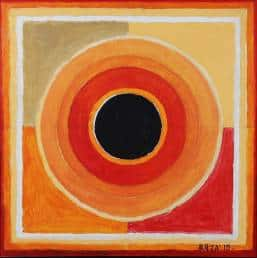 'Saprem', S.H. Raza's work with the bindu, the leitmotif in the artist's works.