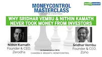 Moneycontrol Masterclass | Why Sridhar Vembu & Nithin Kamath never took money from investors
