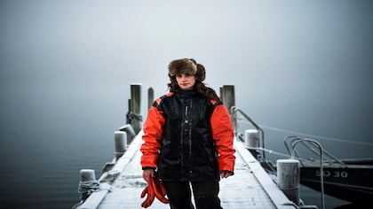 Sweden's only female oyster diver Lotta Klemming finds calm at sea