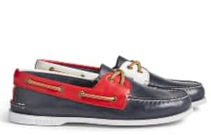 Boat shoes by Sperry.