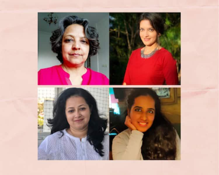 (clockwise from top left) Tripura Kashyap, Reetu Jain, Sukriti Dua and Preethi Rajagopalan of the Creative Movement Therapy Association of India.