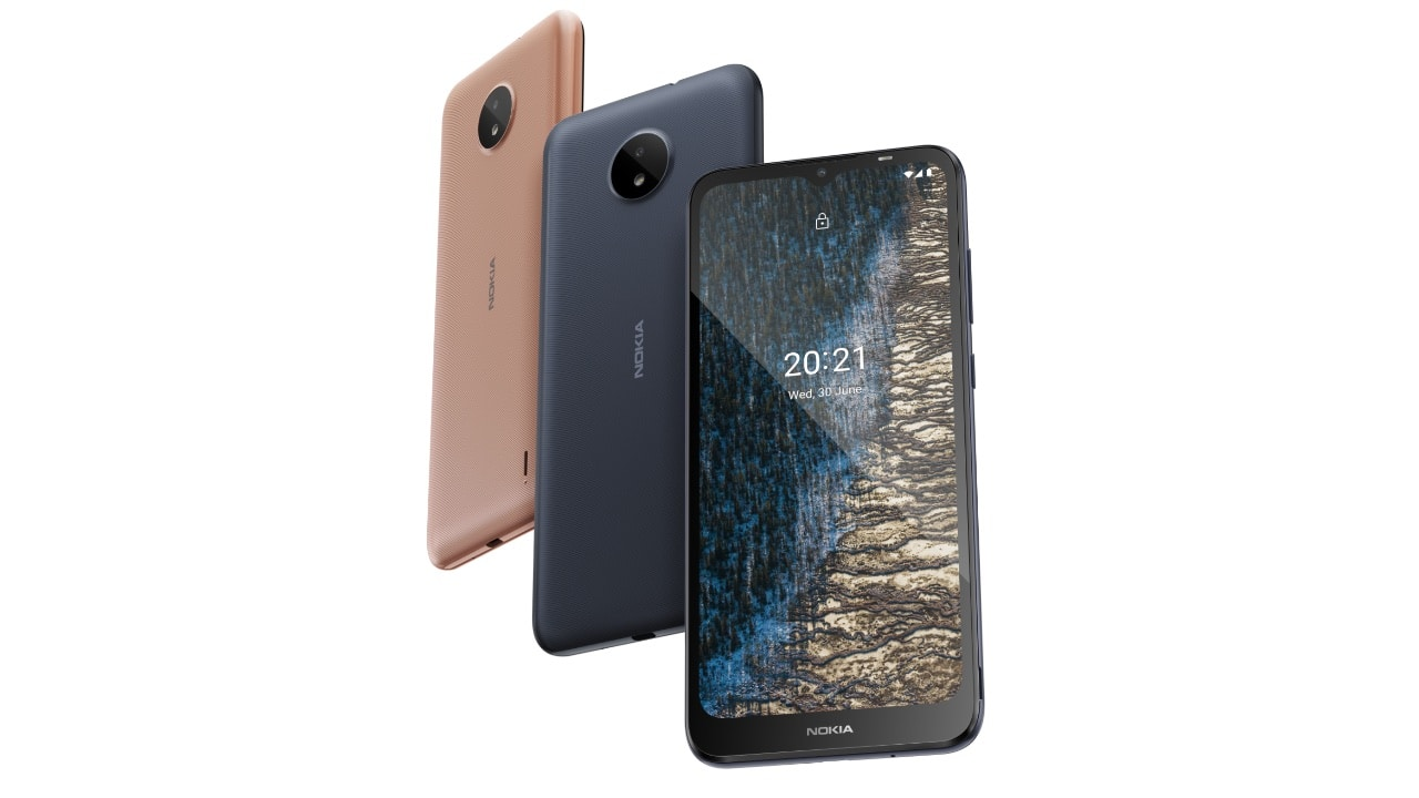Nokia C20 specifications include a 6.51-inch HD+ display, a Unisoc SC9863a octa-core processor, up to 2GB RAM and 32GB storage. It comes with a 5MP single camera sensor. There is also a 5MP front camera for selfies. The device features a 3000 mAh battery with 5W charging via micro USB 2.0. It runs Android 11 out of the box and comes with three years of software support.