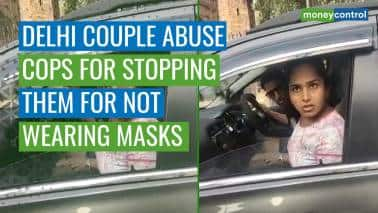 Watch | Delhi couple abuse cops for stopping them for not wearing masks