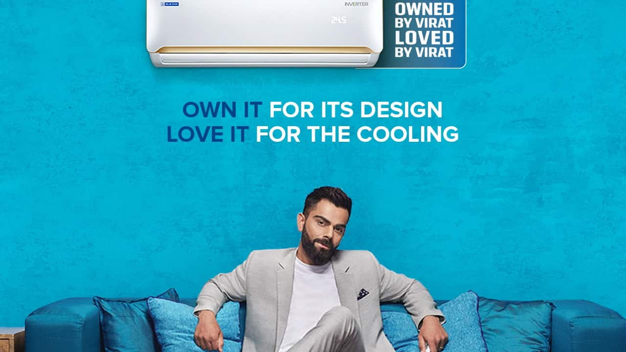 Virat Kohli trailed far behind the top two, the study said. His score of 45 on CELEBAR is mostly derived by his 94 percent association with MRF tyres. Bluestar is in low single digits on association. Image: Twitter