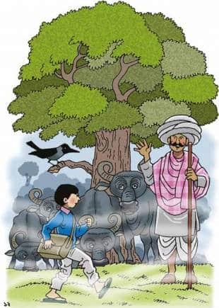 Illustration in a book by Subhadra Sen Gupta.