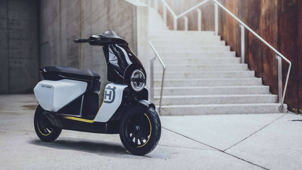 With most auto manufacturers looking at an electric future, two-wheeler maker Husqvarna isn't far behind either and have just unveiled the Vektorr concept e-scooter. (Image source: Husqvarna)