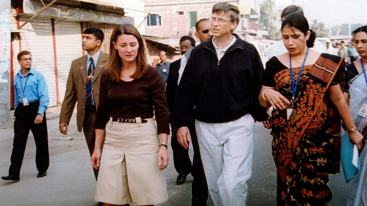 File image: Bill Gates, founder and chairman of Microsoft (center), and Melinda (left) in Dhaka, Bangladesh as part of their work for the Bill & Melinda Gates Foundation (Image: AP Photo/Gazi Sarwar, File)