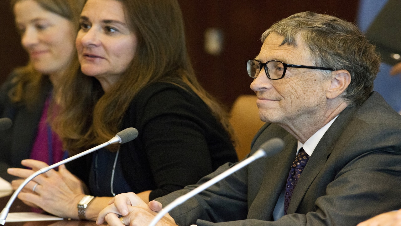 Bill Gates (R) and Melinda Gates (C), co-chairs of the Bill and Melinda Gates Foundation, attend a meeting with U.N. Secretary-General Ban Ki-moon during the United Nations General Assembly at the U.N. headquarters in New York, September 25, 2015. (Image: Reuters)