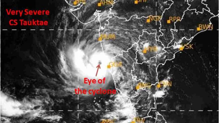 The eye of cyclone Tauktae is now cleraly observed, says India Meteorological Department. (Image: Twitter/@Indiametdept)