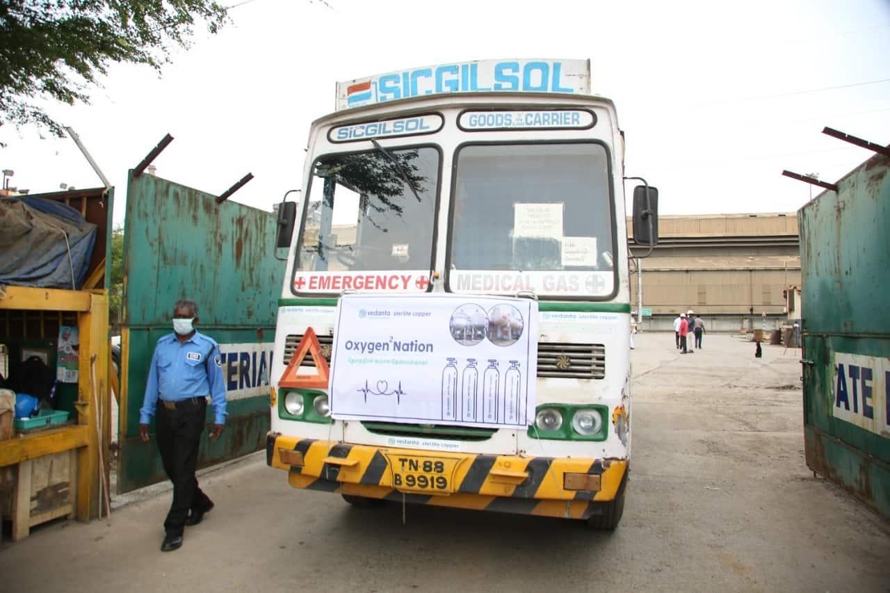 Vedanta's Sterlite plant sends out first load of medical oxygen