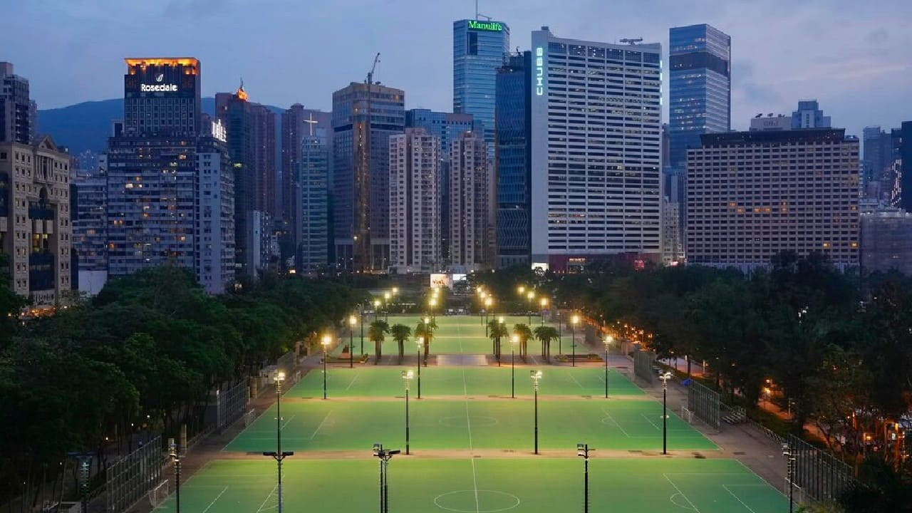 Hong Kong Victoria Park is seen on June 4, 2021. Police arrested an organizer of Hong Kong's annual candlelight vigil remembering the deadly Tiananmen Square crackdown and warned people not to attend the banned event Friday as authorities mute China's last pro-democracy voices. In past years, tens of thousands of people gathered in Hong Kong's Victoria Park to honor those who died when China's military put down student-led pro-democracy protests on June 4, 1989. Hundreds, if not thousands were killed. (Image: AP/Vincent Yu)