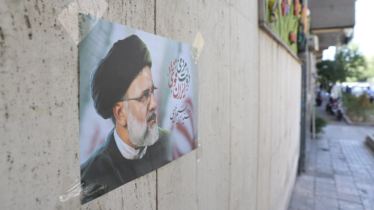 A poster of presidential candidate Ebrahim Raisi is seen on a street in Tehran, Iran (Image: Majid Asgaripour/WANA (West Asia News Agency) via Reuters)