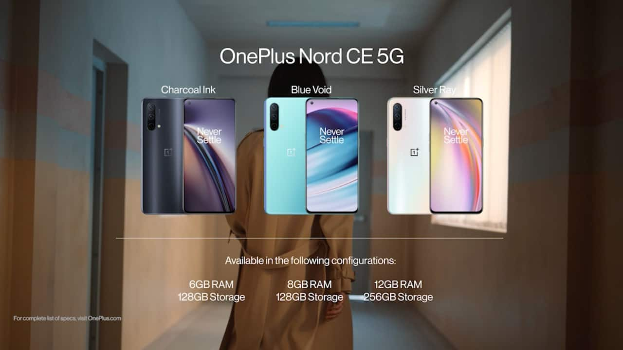 OnePlus Nord CE 5G   The OnePlus Nord CE 5G was the latest addition to India's mid-range 5G segment. The Nord CE brings a Snapdragon 750G SoC, a 90Hz AMOLED panel, a 64 MP triple-camera setup, and a 4500 mAh battery with 30W charging support. The Nord CE 5G also offers the added benefit of having excellent software.