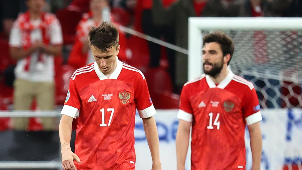 It was the Russians who had the first chance of the game, Aleksandr Golovin driving towards the goal and fashioning a great scoring opportunity only to shoot straight at Kasper Schmeichel from close range. (Image: Reuters)