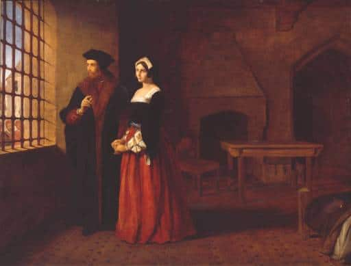 Painting of Sir Thomas More and his daughter (1844), by John Rogers Herbert. (via Wikimedia Commons)