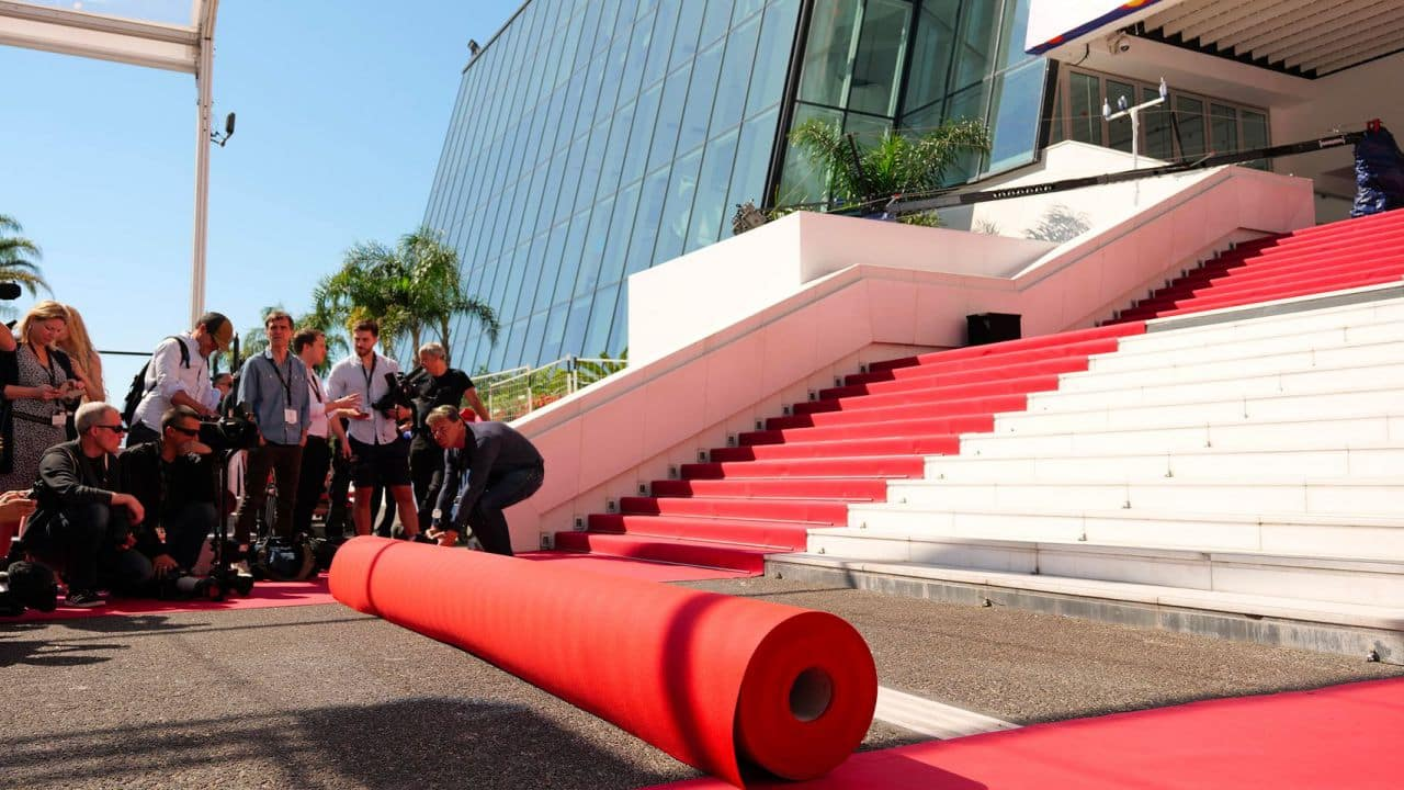 The festival will reduce the volume of red carpet by 53%, and use recycled materials as part of a new initiative to make the event carbon-neutral.