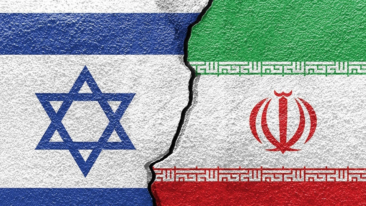 Flags of Israel and Iran (Image by icedmocha via Shutterstock)