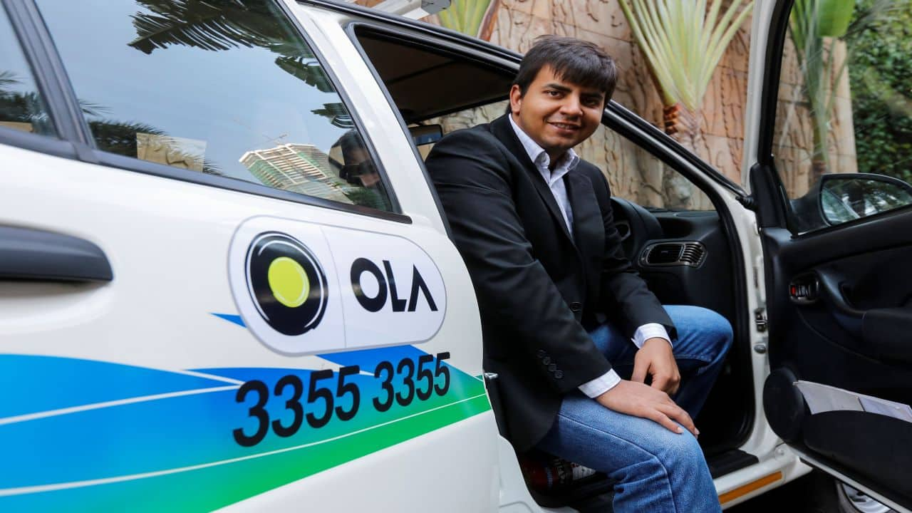 Ola Cabs   Valuation: $6.3 billion   City: Bengaluru   Industry: Auto & transportation   Select investors: Accel Partners, SoftBank Group, Sequoia Capital (Pictured here is Bhavish Aggarwal, CEO of Ola)
