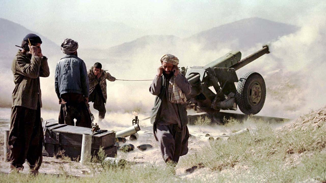 Taliban fighters fire a Soviet-made cannon, 25 kilometres north of the Afghan capital on November 2, 1995. This image was clicked one of the sporadic exchanges of artillery and rocket fire between the Taliban and the former government forces in a range of hills across the Shamali valley (Image: Reuters/Patrick De Noirmont)
